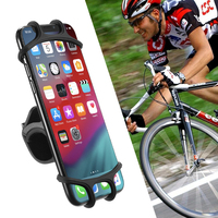 RAXFLY 360 Rotation Universal Adjustable Bicycle Motorcycle Smart Phone Holder Stand Silicone Bike Mount Mobile Phone Holder