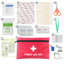 Small size 1680D Oxford fabric 60 Pieces mini first aid kit