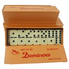 Jumbo domino double six with golden spinner in plastic box with 54*27*12mm dominos from professional dominoes factory