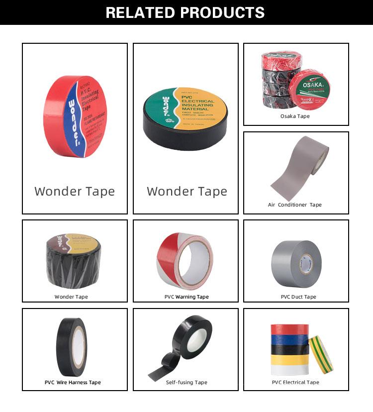 Griechenland Markt 0,13mm * 19mm * 20Y Wonder Elektrische elektrische Isolierung PVC Band