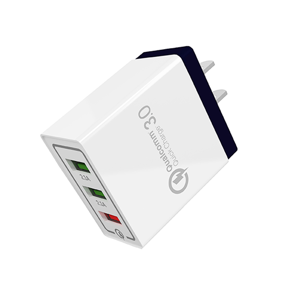 SIPU fast charging universal mobile phone usb adapter qc 30 3 port wall charger