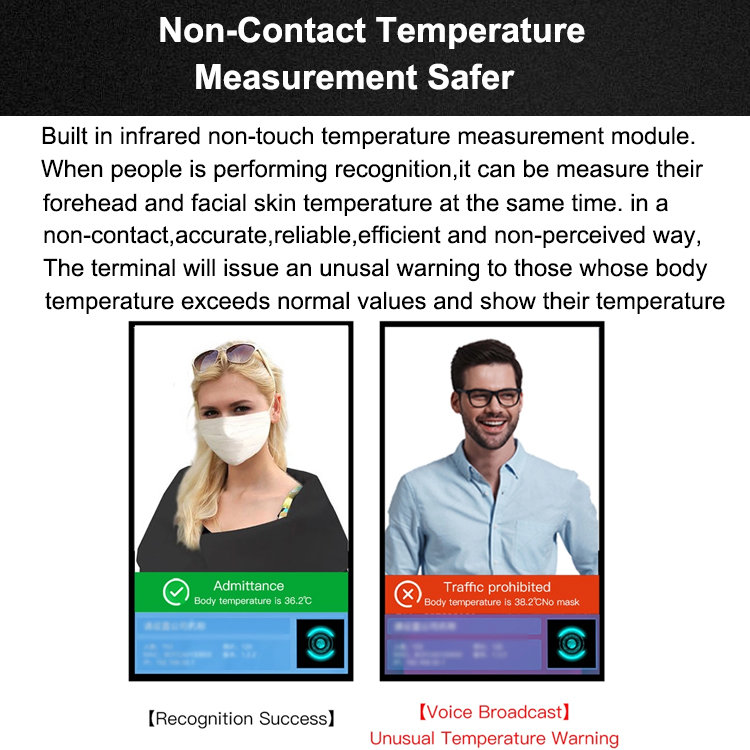 Temperature Scan Face Recognition