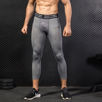 2019 New Mens Wholesale Sports Tights Pants Running Leggings Cool Quick Dry Custom Workout Training 3/4 Compression Pants