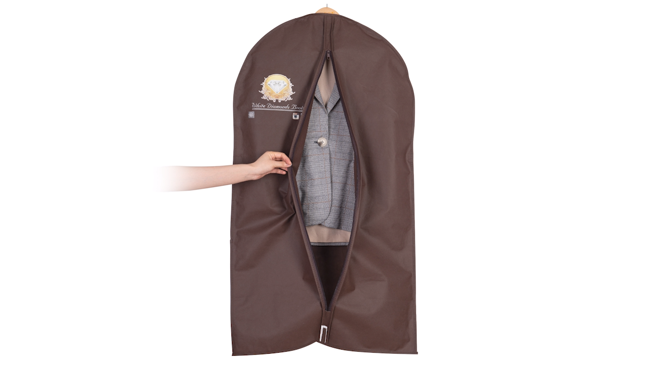 Multiple Garment Bags Different Sizes To Keep Men Cloth  Moth Dust Proof Foldable Zip Bag For Closet Storage  Dress Shirt