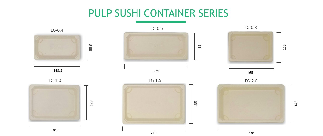Wholesale Recyclable Eco Sushi Takeaway Delivery Food Packaging Box