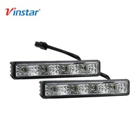 Vinstar Hot selling E4 Universal Car LED DRL Lamp 12V Waterproof LED Daytime Running Light