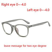Асферические линзы по рецепту 1,56, женские очки с прозрачными овальными заклепками, очки для близорукости, мужские очки от 0 до 0,5-0,75-1,0 до-4,0(Китай)