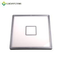 Low profile led bathroom ceiling light square surface mount