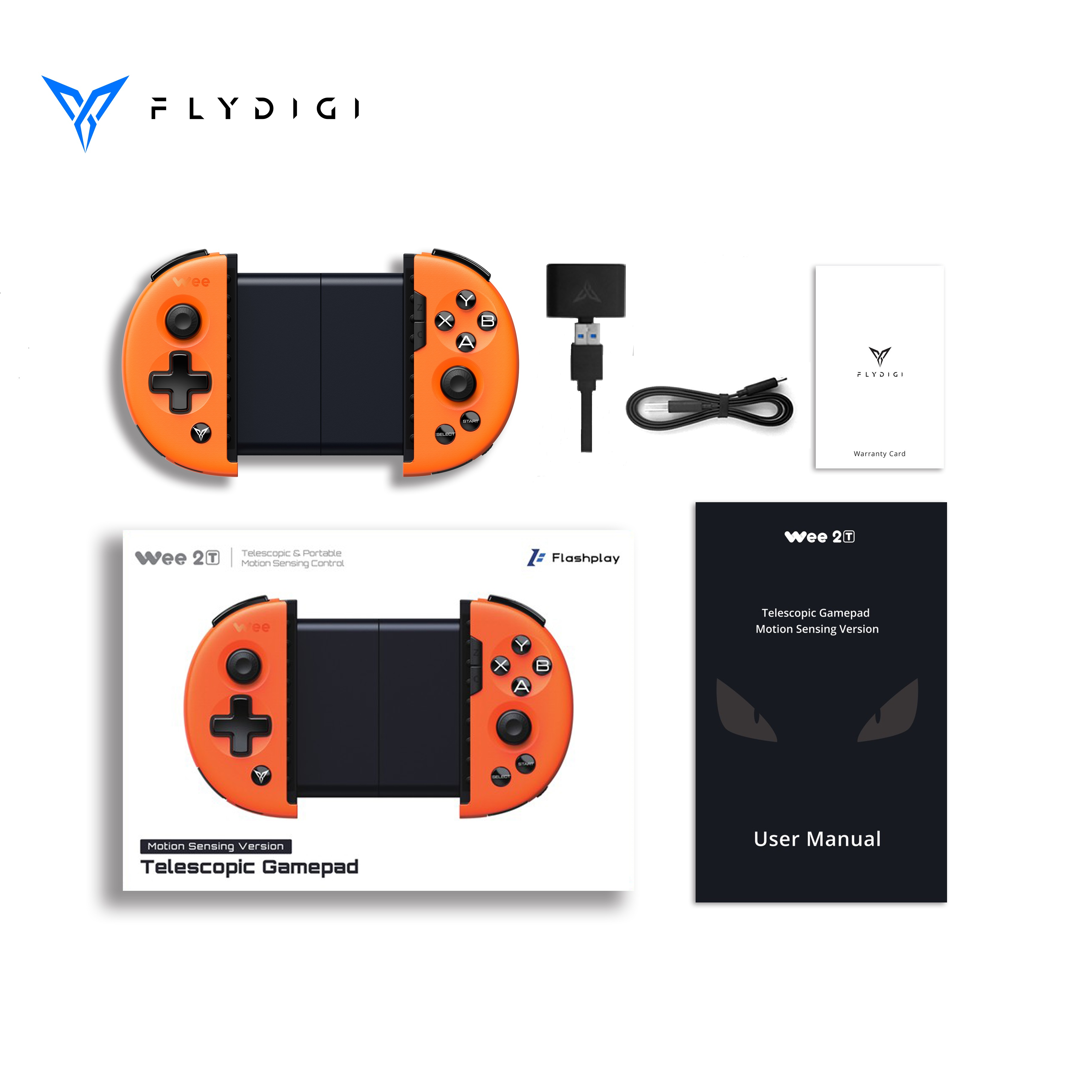 Original Flydigi Wee 2T for PUBG IOS <strong>Android</strong> <strong>bluetooth</strong> Wireless Flashplay 6-axis Gamepad Game <strong>Controller</strong>