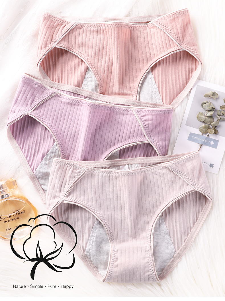 Individual Packing Wholesale Menstrual Cotton Period Panties for Women