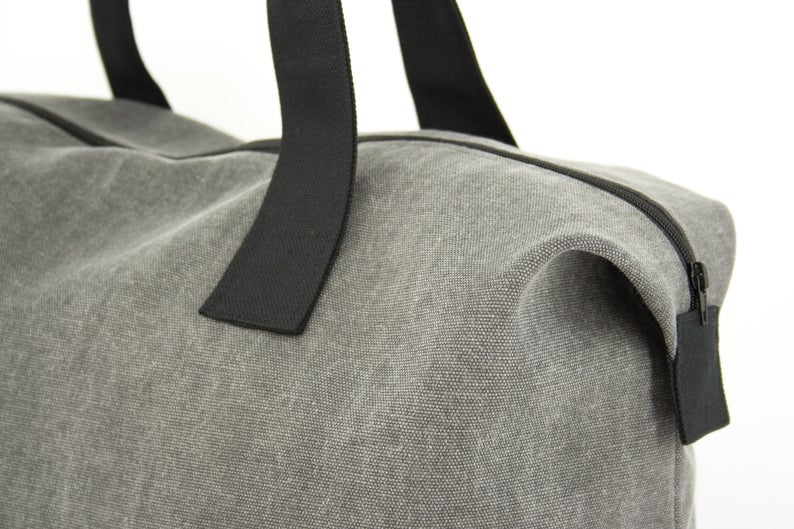 GF-JT2005 Weekender Bag, Cotton Canvas Duffel Bag, Gym Bag Unisex  Renewable canvas