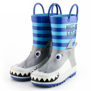 Rubber outdoor waterproof kids raining shoes for children