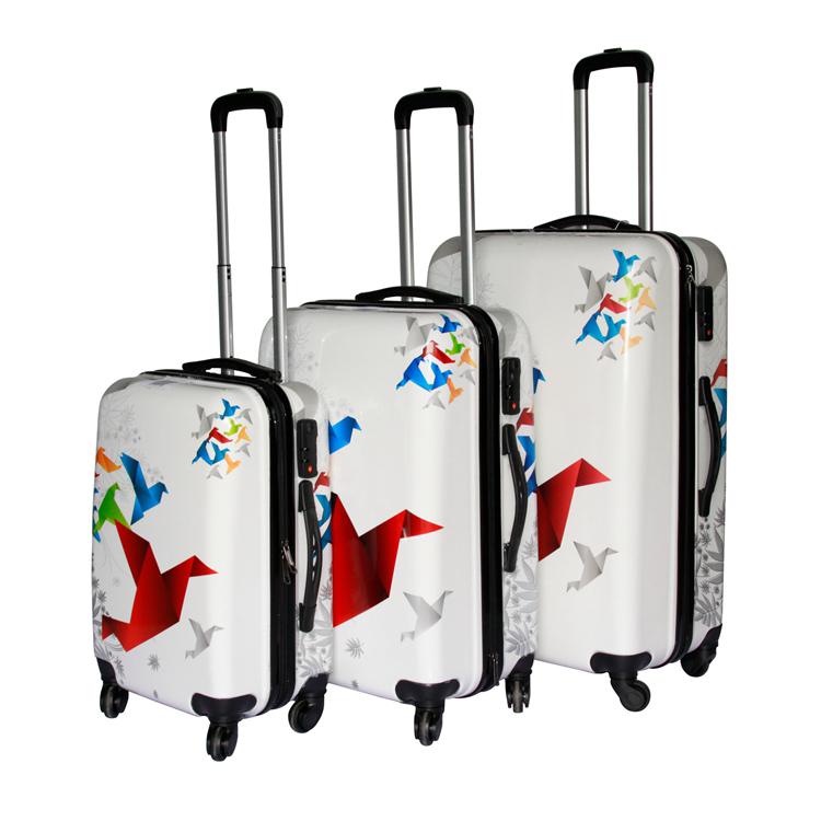 Жесткий чехол на колесиках с принтом бабочки для детей 16/20/24/28 ', комплект из 4 предметов, сумка для путешествий, чехол для багажа