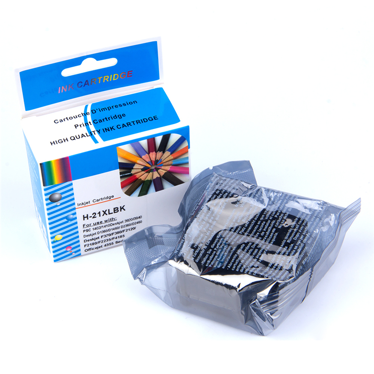 Bulk Packaging Black Inkjet  Refillable Printer Ink Cartridge