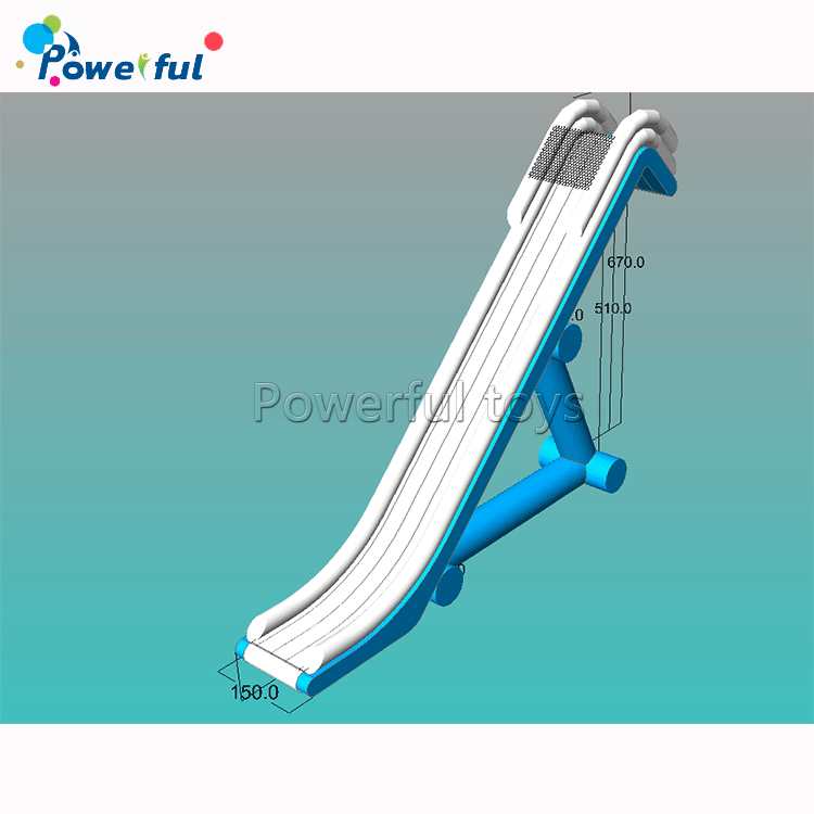 Inflatable pontoon  boat slide  inflatable  floating yacht  water slide