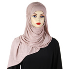 Stylish New party wear Hijab design 2019 of Crystal Ma material Head hijab scarf