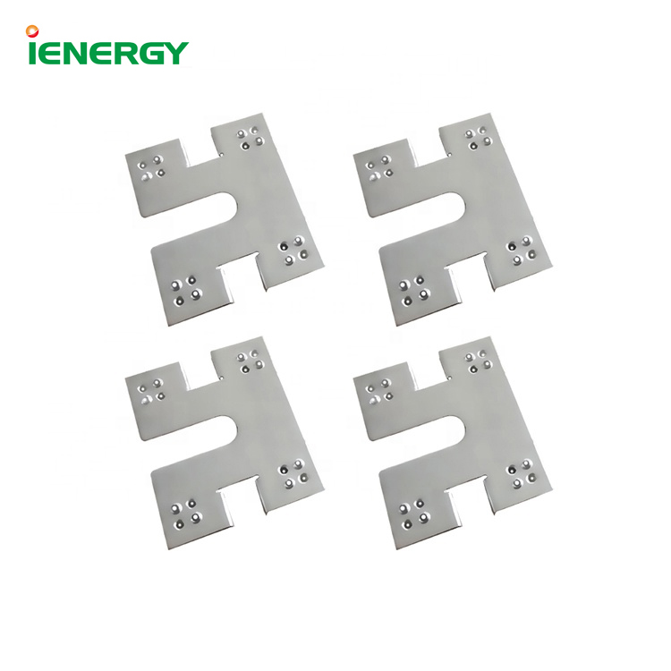 Solar panel mounting stainless steel grounding clip for pv mounting systems