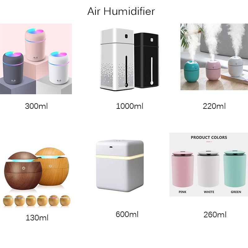 OEM 220 مللي المرطب الهواء اللاسلكية البسيطة USB الأجهزة المنزلية المرطب Humidificador الناشر الزيوت الأساسية الناشر السيارة