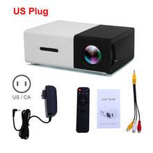 YG300 Мини ЖК светодиодный проектор 400-600 люмен 320x240 пикселей забавная игрушка в подарок для детей(Китай)