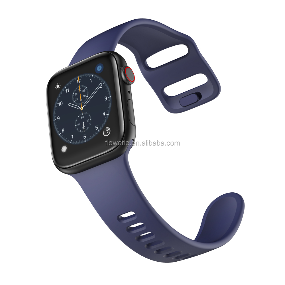 FLS181034 Online wholesale sales multi-color silicone watch band for apple watch