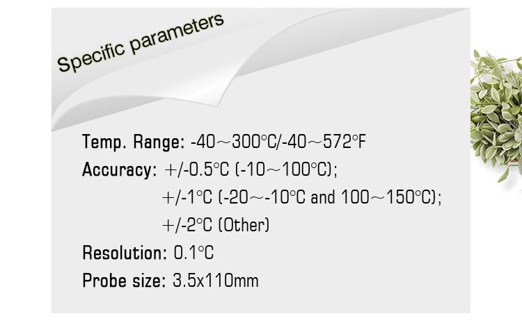 WENMEICE LDT-1805 निविड़ अंधकार IP68 डिजिटल थर्मामीटर के साथ foldable जांच मांस खाद्य BBQ खाना पकाने के लिए