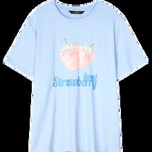 Женская футболка ELFSACK, белая Повседневная футболка с принтом клубники и бисером в стиле Харадзюку, лето 2020(China)