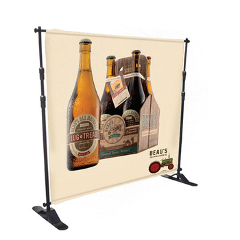 Dye Sublimation Print Adjustable Large Format Backdrop Telescopic Banner Stand