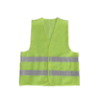 Style Vest Safety Vests Cheap Hi-Vis Fluorescent Yellow Simple Style Cheap Security Warning Vest 100% Polyester High Quality Knitted Reflective Safety Clothes