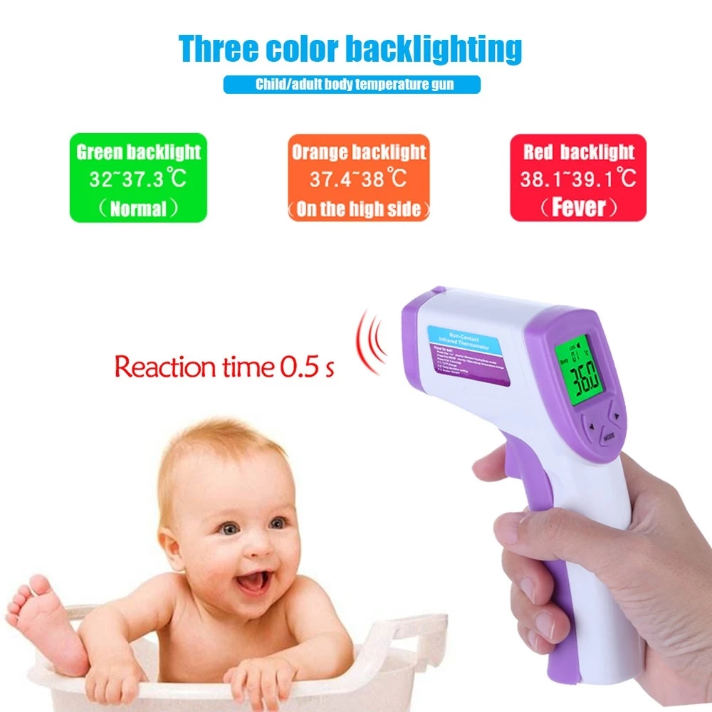 LCD Digital Infrared Thermometer Body Temperature for Children Forehead Non-contact Forehead Body Thermometer with Backlight - KingCare | KingCare.net