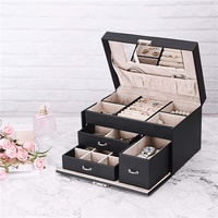 2019 Customized Fashionable Simple PU Jewelry Set Box