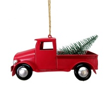 Personalizzato <span class=keywords><strong>Di</strong></span> Natale In Metallo Camion Rosso Albero <span class=keywords><strong>di</strong></span> Natale