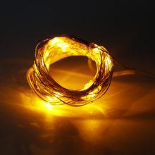 3 м 30 светодиодный светильник с серебряной проволокой Сказочный светильник фестивальный декоративный светильник 3AA батарейный блок с 8 функ...(Китай)