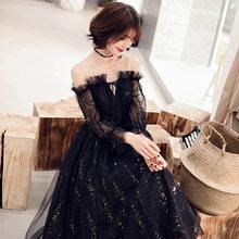Белые платья для выпускного вечера It's Yiiya R216, элегантные платья с вырезом лодочкой, плиссированные вечерние платья с пышными рукавами, расши...(Китай)
