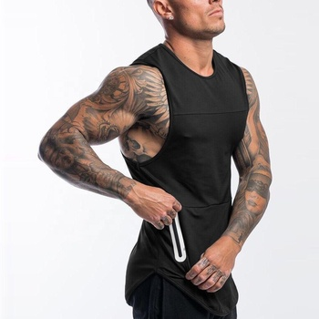 OEM Mens Training Activewear Dry Fit Gym Top Cotton Plain Tank Tops Custom Logo Gym Tank Top Men
