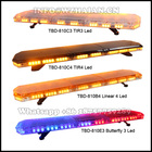 New Emergency Warning Lightbar With Speaker Police Slim Lightbar Led Red Blue Patrol Car Warning Light Bars Siren