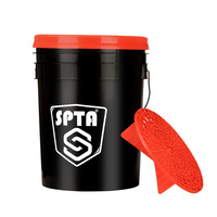 SPTA 20L Muti-fuctional car wash bucket with grit guard PP bucket