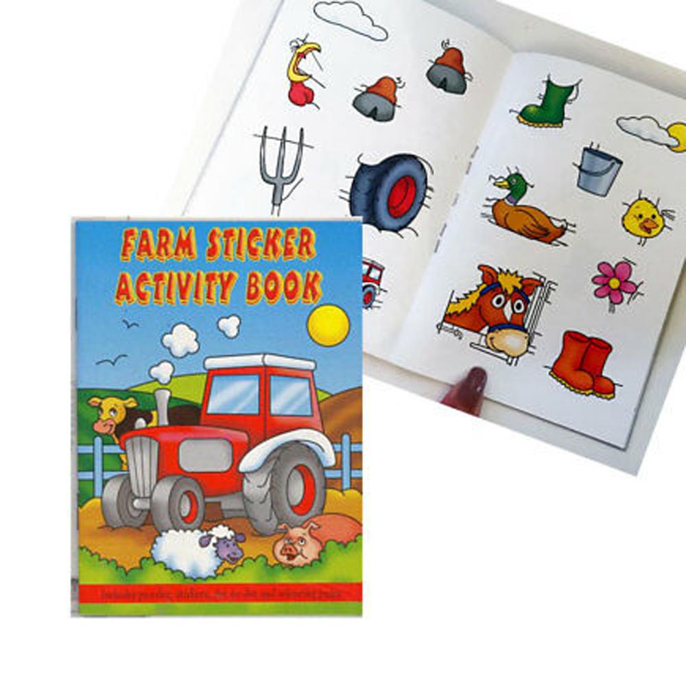 Оптовая продажа раскраска картон Съемный Детский Стикер Книга