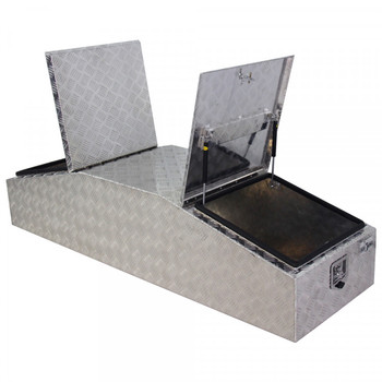 Customized Checker Plate Aluminum Jobsite Trailer Tool Boxes