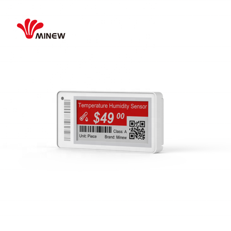 2.9 inch e ink price tag BLE 5.0 nfc electronic shelf label