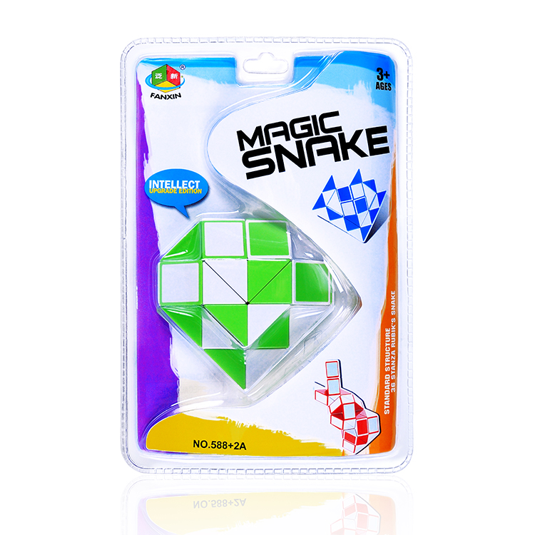 128 Online wholesale fun IQ puzzle toys educational interactive 3d diy collection magic snake