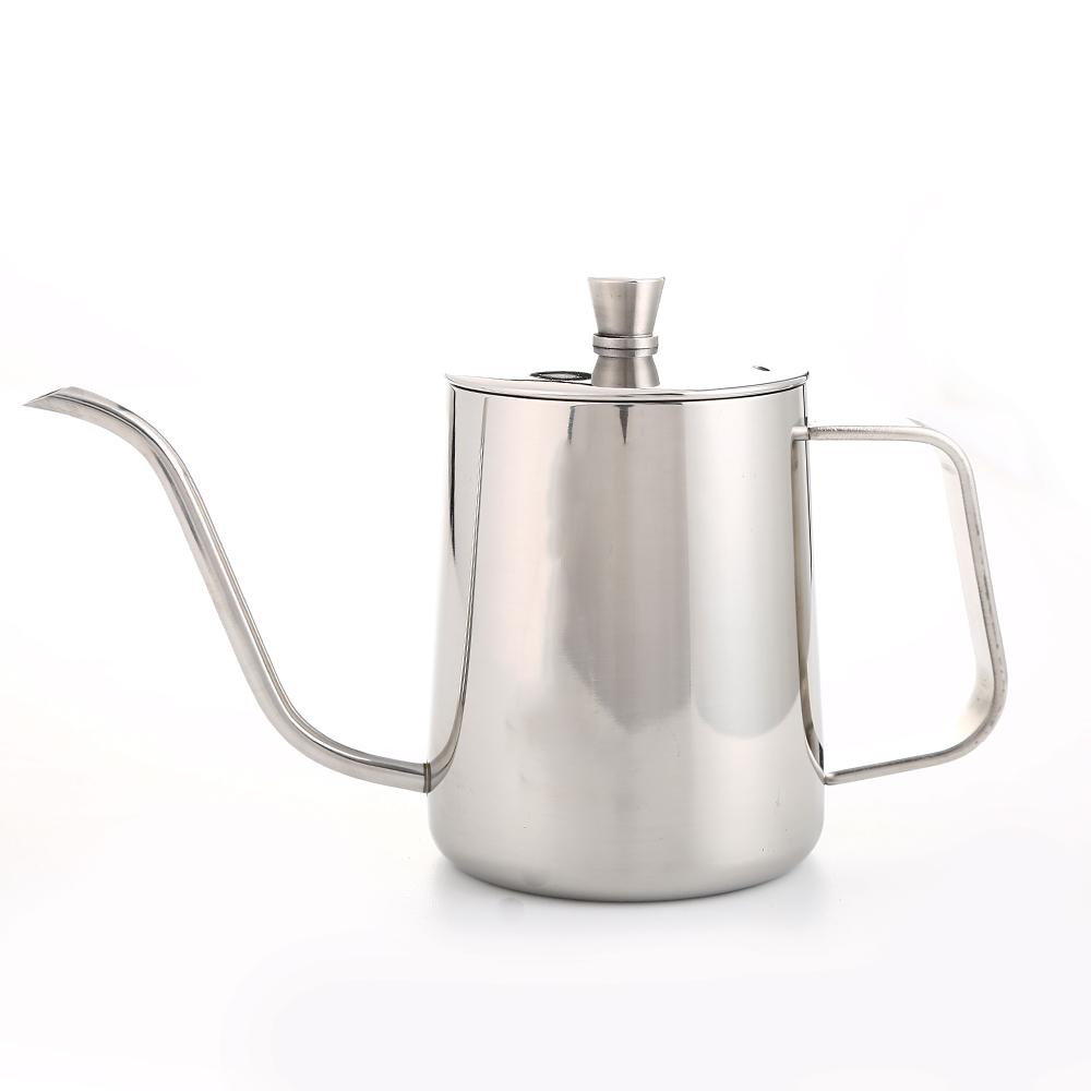 Premium Pour Over Drip Kettle 650ml Stainless Steel  Long Gooseneck Narrow Spout Coffee Maker Tea Pot