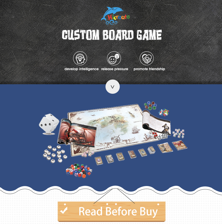 Hicreate-custom custom board game printing manufacturer large size board game large board game custom
