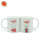 Promotional Christmas Series 11oz Ceramic Mug with Various Decal
