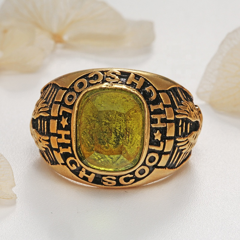 product-BEYALY-Solid Gold Class Graduation Ring-img