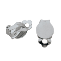 Stainless steel glossy frog shape ear clip earrings accessories