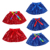 National Day Toddler Girls Sparkle Skirts Boutique Kids Baby Summer Midi Sequins Skirt Personalized Costume Cute Blue 2pcs