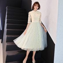 Вечерние платья для выпускного вечера It's Yiiya R243, элегантные вечерние платья длиной до середины икры с круглым вырезом и рукавом до локтя, кру...(Китай)