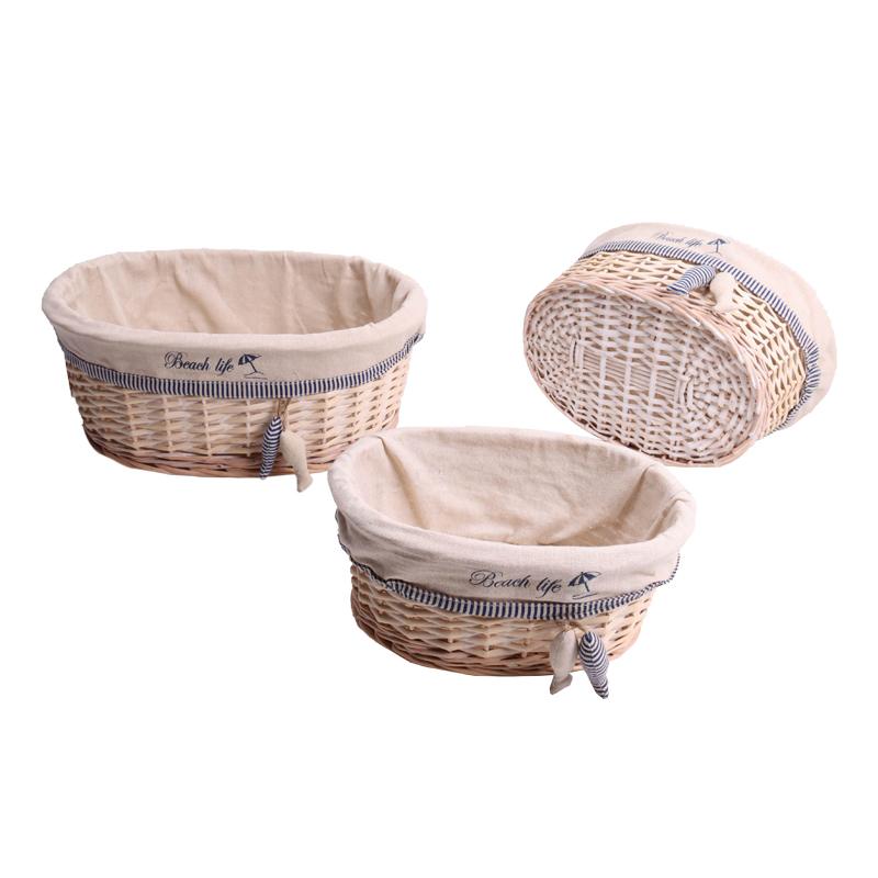 Bulksale Cheap decorative wicker New design home storage basket