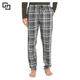 Wholesale Men 100% Cotton Full Length Plaid Pajama Pants
