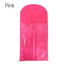 Alileader вешалка для наращивания волос деревянный держатель для волос с нетканым пыленепроницаемым чемоданом прозрачная сумка для хранения ч...(Китай)